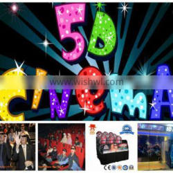 2014 oversea hot removable animation amusement equipment motion hydraulic truck mobile 5d cinema for sale