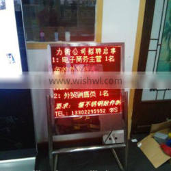 LED display stand sign\Stainless steels floor stand sign/Ladvertising stand signs