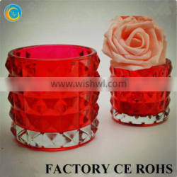 Wholesale Broken Sliver printed Mercury Glass Candle Holders