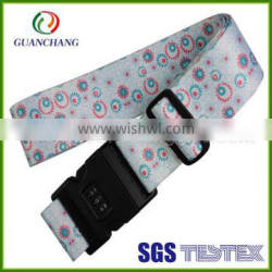 hot sale custom made luggage strap with password lock