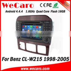 Wecaro WC-MB7509 Android 4.4.4 car gps player touch screen for Benz CL-W215 dvd 1998 - 2005 Steering Wheel Control