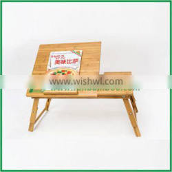 mini computer note book computer laptop desk table tray, bamboo