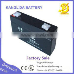 Made in China 6volt 1.3ah rechargeable sealed lead-acid battery for LED light power bank