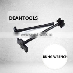 Single End Double Head Carbon Steel 45# bung Wrench , Black Finished Drum Plug