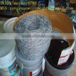 PVC or galvanized barbed wire/ stailess steel barbed wire