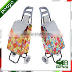 colorful 600D fabric shopping trolley JX-A2D-1