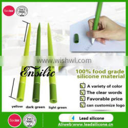 Sedex and ISO Certification New Design Silicone Grass Leaf Shaped Ball Pen