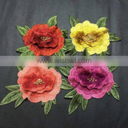 New Fashion Colorful Flower Patch Embroidery Design