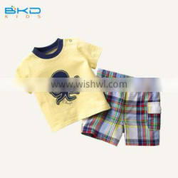 BKD 2016 New arrival baby boys set clothes , boys 2 pcs set clothing, tops and shorts clothing