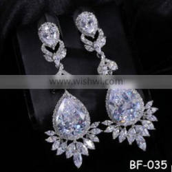 2015 New Arrival high quality fashion statement crystal earring for women wholesale Quality Choice