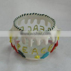 polymer clay candle holder