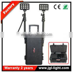 Ce, Rohs led tower light 72w rechargeable fire resistant emergency light