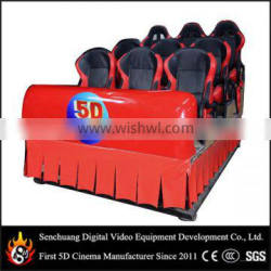 Professional comfortable cinema seating 6 seats with safe belt