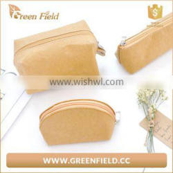 Hot Sale Washable Kraft Paper Cosmetic Bags