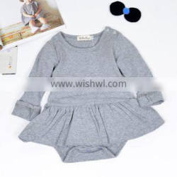 New Romper With Skirt Infant Long Sleeve Winter Rompers Baby Wear Clothes