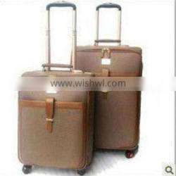 2012 Brown PU Personalized Luggage Sets