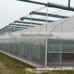 The steel structural frame of external blinds greenhouse