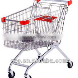 Steel Wire Shopping Cart With Baby Seat