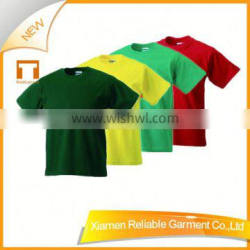 160GSM cotton plain white t shirts for kids with good quality