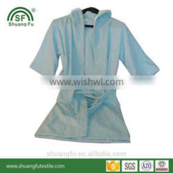 100% cotton loop terry highly absorbent girls bathrobes free size