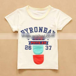 R&H 2015 soft high quality OEM new style factory price exercise boys printed tshirts