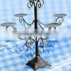 Hanicraft home decor metal candle holder antique centerpieces wrought iron candlestick