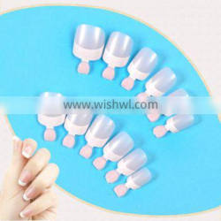 Wholesale french artificial nail art tips classic full cover 12pcs manicure fake nail tips