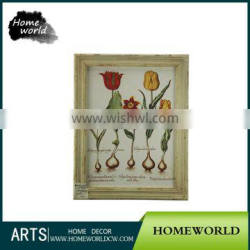 Pretty Printing Art Daffodil Wooden Framed Painting for New House Decoration