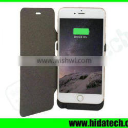 10000mah mobile phone back up battery charger for iPhone 6 Plus with flip leather cover