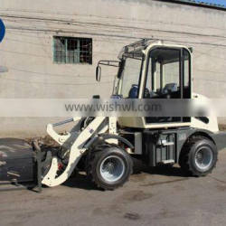 800kg rated load top quailty best price mini wheel loader for sale pallet fork
