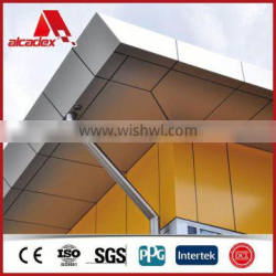 Gold Brushed Wall Facade Building Solution