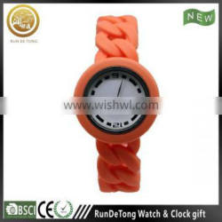 Lovely girls colorful silicone jelly watch dial design can be customized