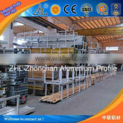 Factory supply aluminum extrusion profile count by weight of aluminum section in construction, fit weight of aluminum section