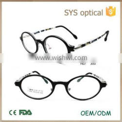 Creative design round shape natty color with device in temple girls boys kids optical frame