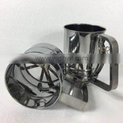 professional stainless steel mesh sieve cup flour sifter with measuring scale