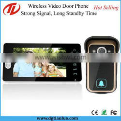 Long Standby Touch Screen Cordless Video Door Phone 7 Inch