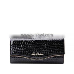 hot sale travel wallet for lady oem order with low MOQ in leather materials