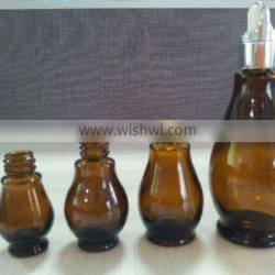 Safety packing calabash shape packaging glass essential oil bottle