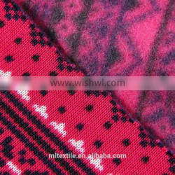 Polyester Winter knitted fabrics for garments/clothing fabric