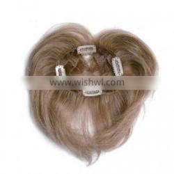 PU Gray Human remy hair extention closure