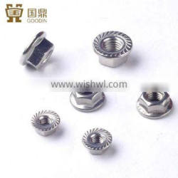 STAINLESS STEEL DIN6923 HEXAGON NUTS WITH FLANGE