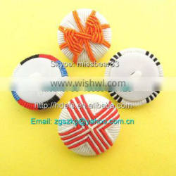 plastic shank back with chinese knot button for cloth