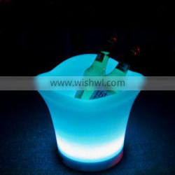 2015 Remote control different colors waterproof plastic led illuminating ice wine bucket