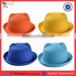 PGH005 children 100% cat ear straw cap and hat