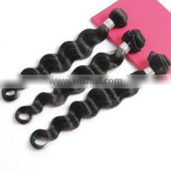 Factory Price Virgin Brazilian Human Hair Weft, Unprocessed Natural Black Loose Wave Hair Extension
