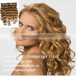 QUALITY REMY blonde curly remy weft hair