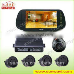 """7"""" TFT Mirror Monitor LCD Display Reverse Parking Sensors with Bluetooth/MP5 functions"""