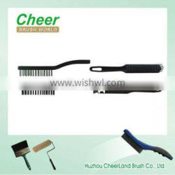 Wire Brush with black wire,plastic handle.