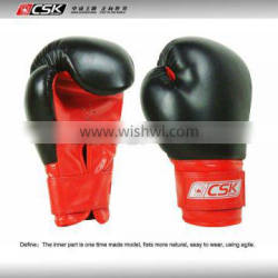 Training hook and loop boxing gloves