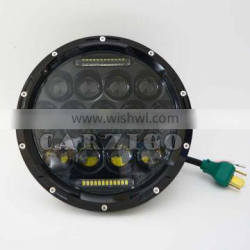 Top quality extra bright quick lead time DC 9-30v 7 inch round 75W driving light